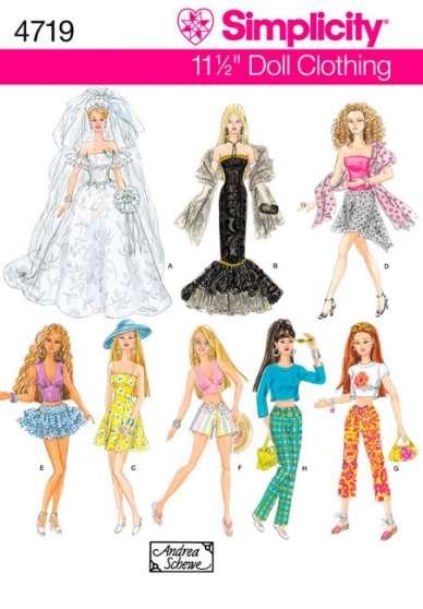 Patrons de couture pour Barbie