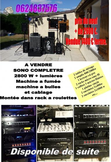 Annonce occasion, vente ou achat 'Sono complète'