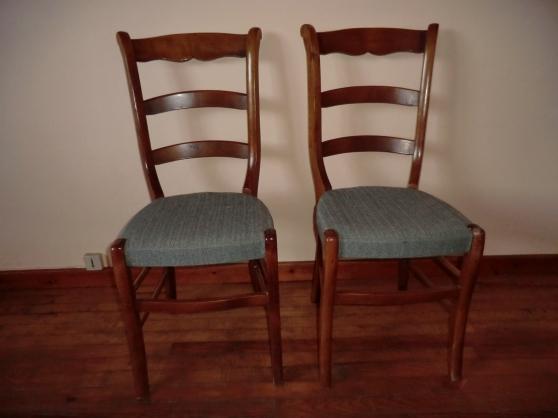 Annonce occasion, vente ou achat '2 Chaises bois avec tissus'
