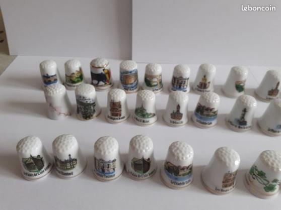 Annonce occasion, vente ou achat 'Vend 33 dés a coudre en porcelaine'