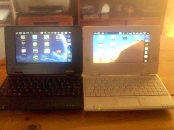 vend 2 netbook android noir et blanc