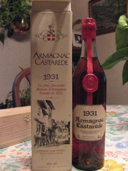 Annonce occasion, vente ou achat 'Armagnac Castarède 1931'