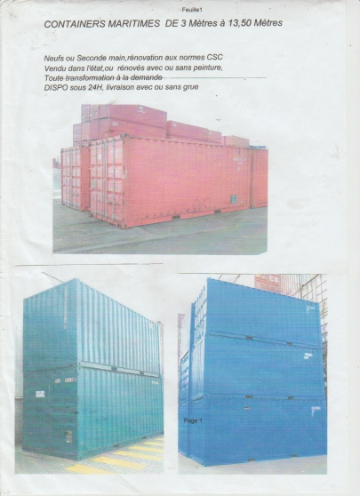 container occasion 6 metres 1350€