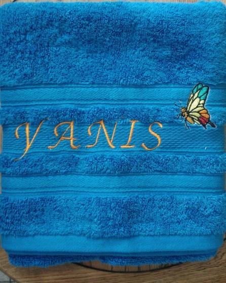 serviette de toilette brodé