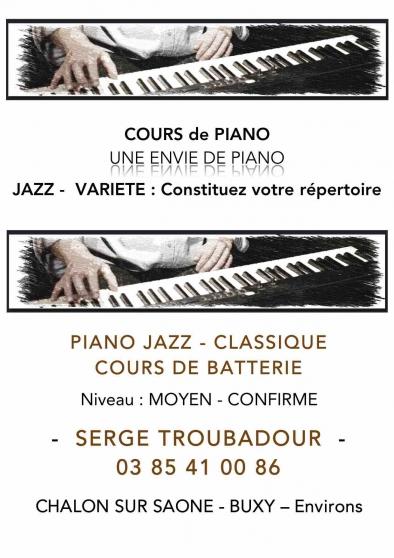 Annonce occasion, vente ou achat 'Cours de piano et cours de batterie'