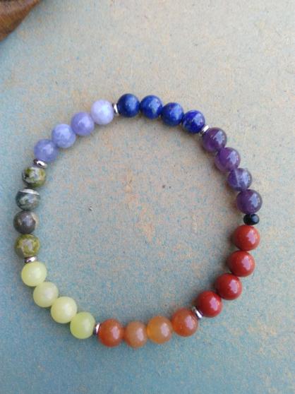 Annonce occasion, vente ou achat 'bracelet 7 chakras gemmes véritables'
