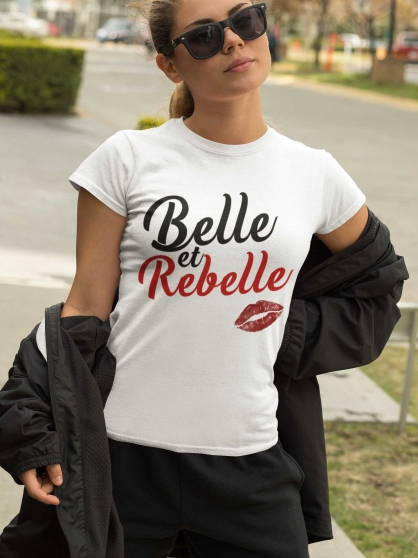 Tee shirt Belle et Rebelle
