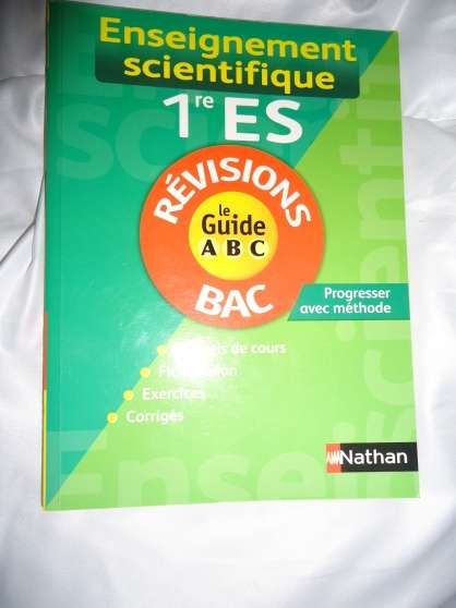 Annonce occasion, vente ou achat 'guide ABC, 1ere ES'