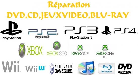 Réparation Dvd,cd,jeux Video,Blu-Ray