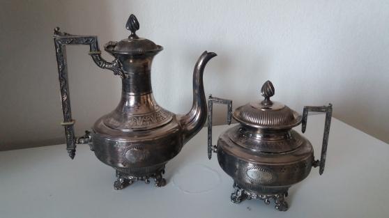 Annonce occasion, vente ou achat 'Théière et sucrier métal argenté la pari'
