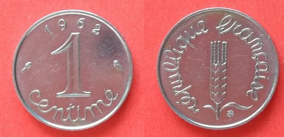 Annonce occasion, vente ou achat '1 centime de 1962 - 1964 - 1967 -1968 -1'