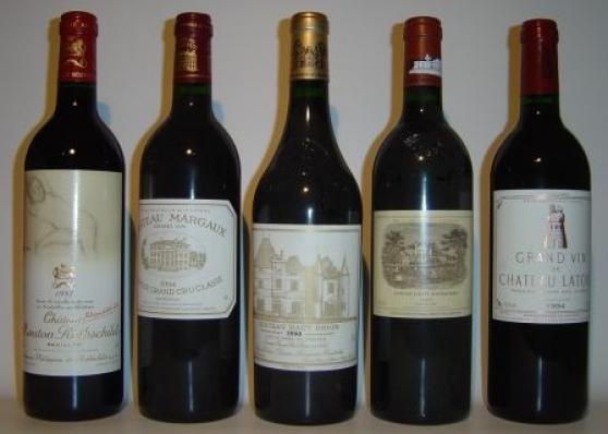 Grands crus classés du médoc aux vins de