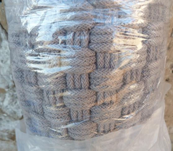 tapis tresse gris