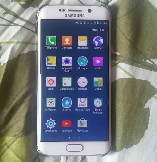 Samsung galaxy s6 edge 128g blanc
