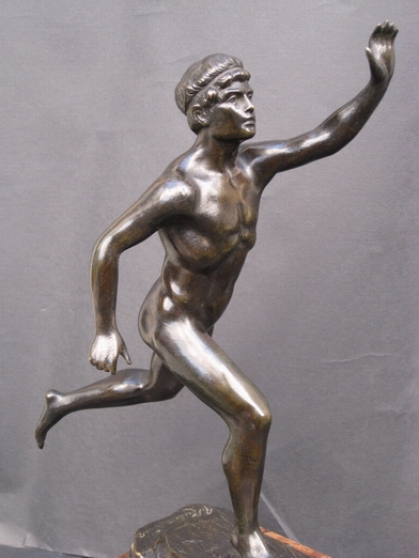 Bataille de Marathon.Sculpture bronze