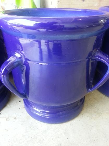 Pot céramique Sarreguemine Bleu Roy - Photo 2