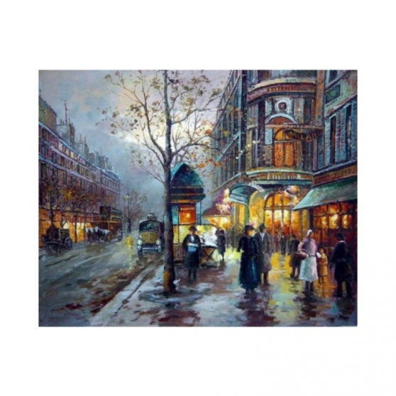 Tableau Peinture Rue Parisienne