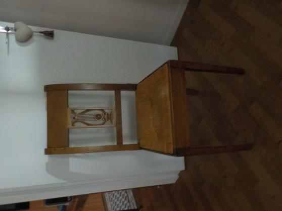 6 chaises paillées