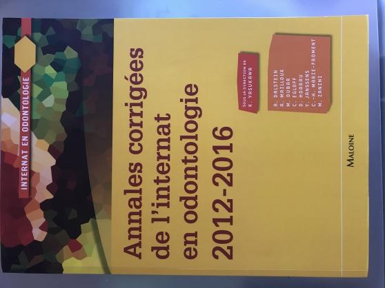 Annonce occasion, vente ou achat 'Annales corrigées odontologie 2012-16'
