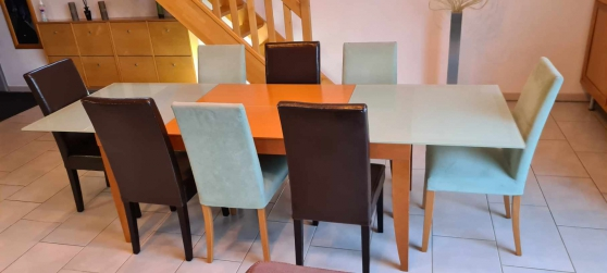 Annonce occasion, vente ou achat 'TABLE SALLE A MANGER CINNA + 8 CHAISES'