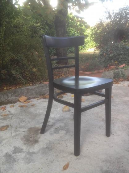 chaise bistro en h tre noir marque go in toulouse meubles d coration chaises fauteuils. Black Bedroom Furniture Sets. Home Design Ideas