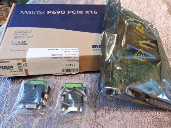 Annonce occasion, vente ou achat 'Carte VGA Matrox P690 PCIe x 16'