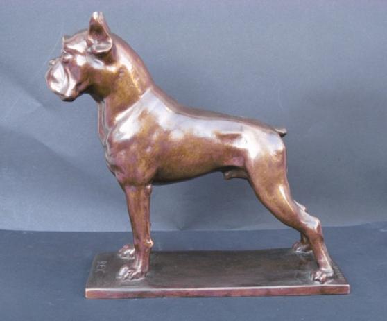 Bouledogue art déco.Sculpture bronze