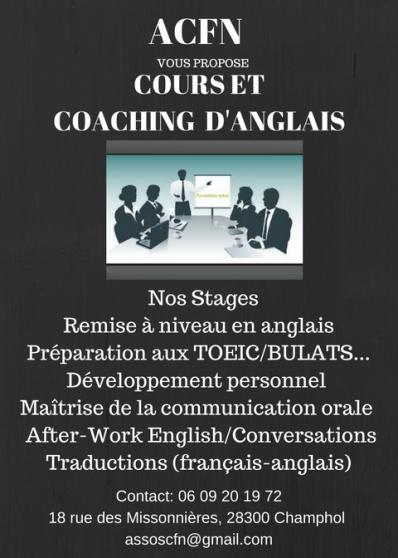 Annonce occasion, vente ou achat 'Cours d\'anglais et développement personn'