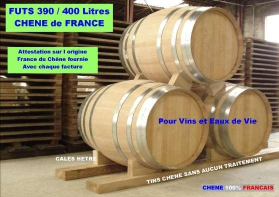 FUTS NEUFS 390/400Litres Chene Francais