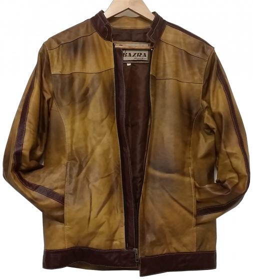 Veste cuir fauve homme Bazra Leather S/M