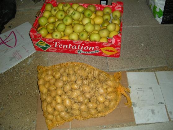 Petite Annonce : Surplus legumes fruits - POMME DE TERRE CHARLOTTES 2.30  GRENAILLES 2.50  POMME A COUTEAU