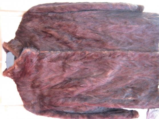 Veste de fourrure vison marron