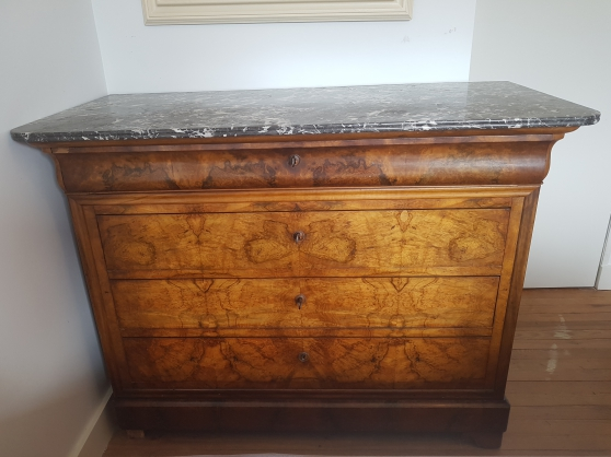 Commode Louis Philippe Plateau Marbre