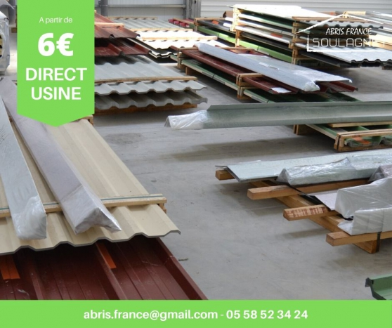Annonce occasion, vente ou achat 'Bac acier toiture / bardage DIRECT USINE'