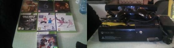 xbox 360 4gb + kinect + 7jeux