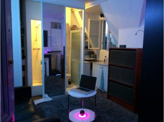 Studio meublé, clair et calme Paris 18m2