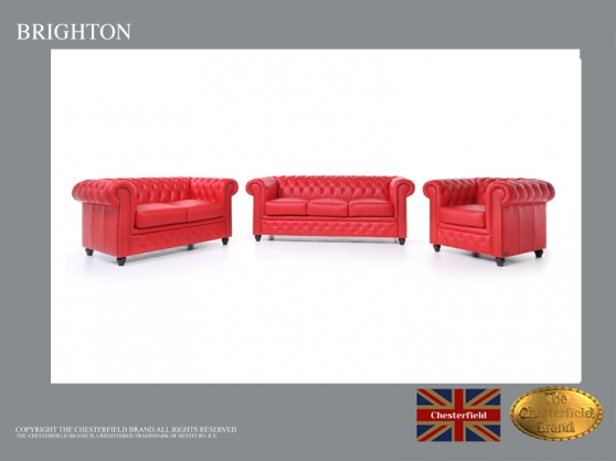Canapé Chesterfield Rouge 3+2+1