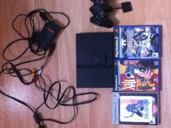 Playstation 2 slim + 3 jeux