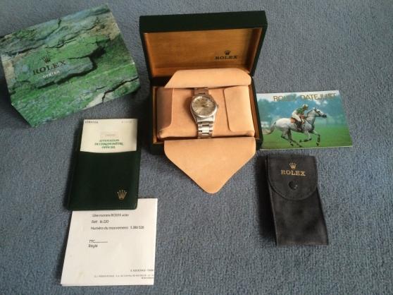 Petite Annonce : Rolex datejust 16220 full set - Rolex 16220 Série X achetée chez Rolex France en 1995 avec papiers