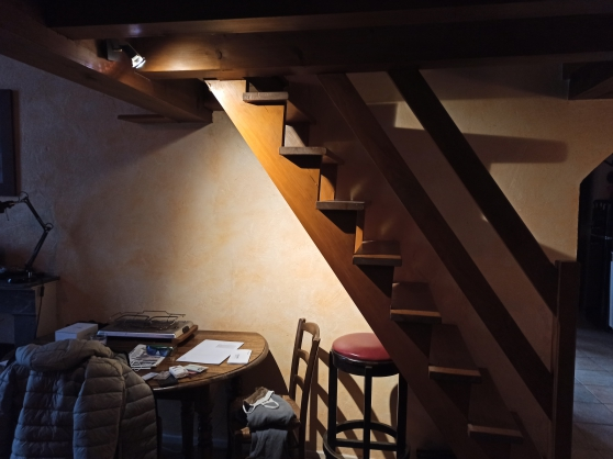Escalier pin massif