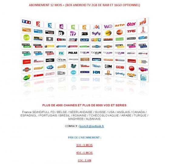 Annonce occasion, vente ou achat 'ABONNEMENT 12 MOIS'