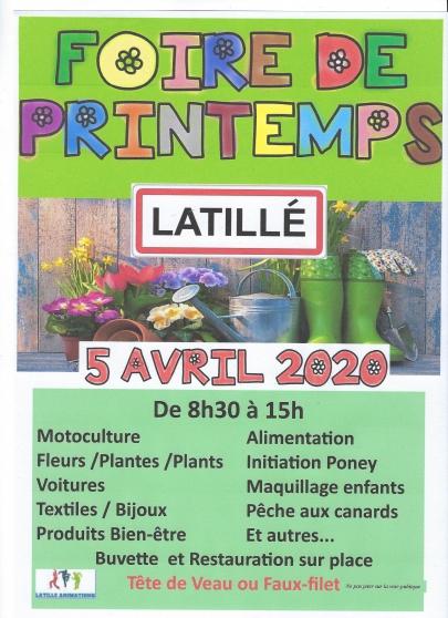 Annonce occasion, vente ou achat 'Foire de Printemps'