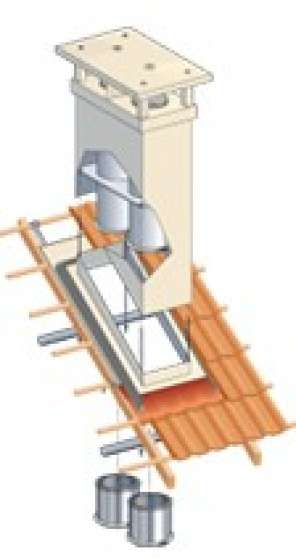 sortie de toit poujoulat db conduit neuf lons mat riaux de construction mat riaux de. Black Bedroom Furniture Sets. Home Design Ideas