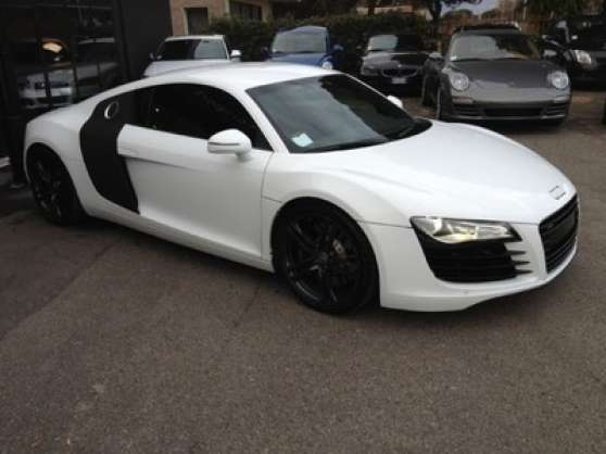 audi r8 4 2 v8 quattro r tronic blanche auto audi oullins reference aut aud aud petite. Black Bedroom Furniture Sets. Home Design Ideas