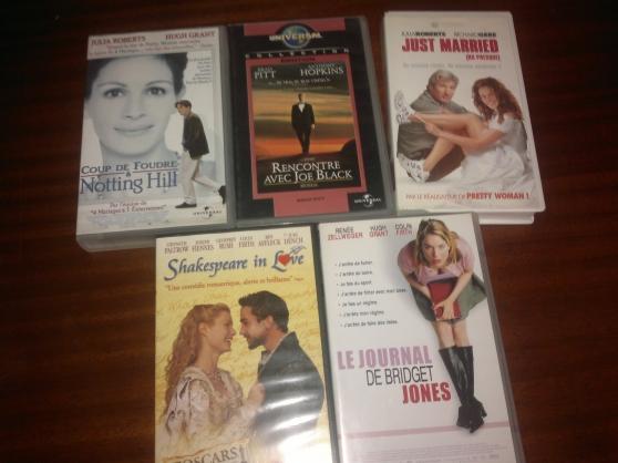 5 cassettes films VHS