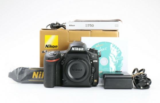 Nikon D750 + Grip + Batterie