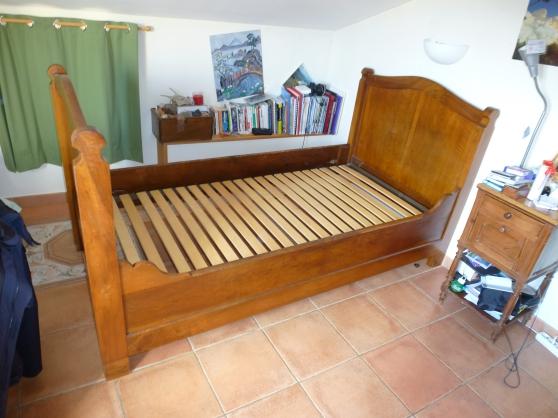 vend lit ancien 90x 190 avec sommier la