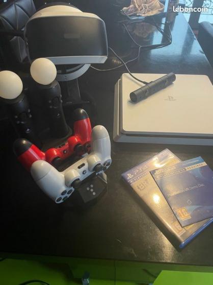 PS4 Blanc 500Go + casque RV+ 2dual shock