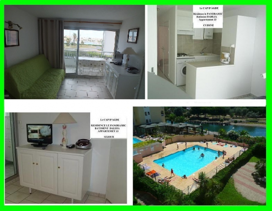 Annonce occasion, vente ou achat 'Cap d'Agde (Herault) appart 4 Pers 2ch'
