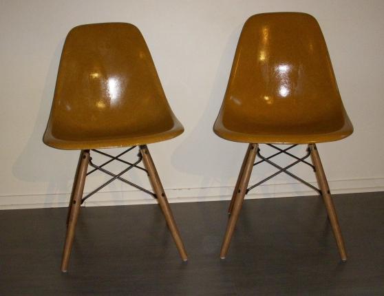 chaises eames herman miller ochre dark meubles d coration chaises fauteuils paris. Black Bedroom Furniture Sets. Home Design Ideas